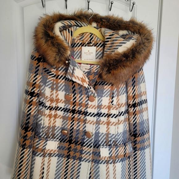 Kate spade Cream / Brown Coat